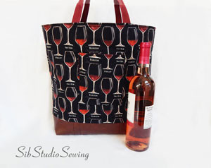 My newest wine tote bag design