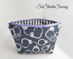 Handcuff cosmetic bags by sibstudiosewing
